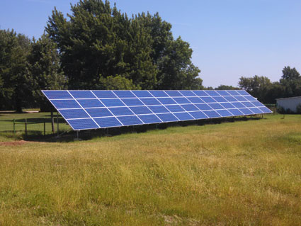 14.56Kw Ground Mount - 14.56Kw Ground Mount Array Arkansas City Kansas. This customer has not had an electric bill over 12$ since installation September 2015!