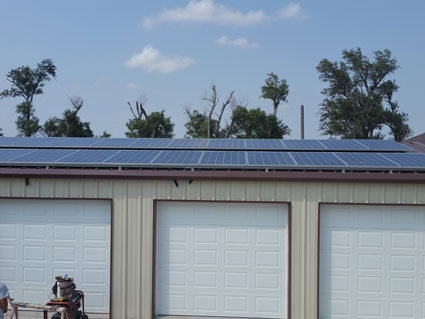 7.28Kw Roof Mount Array - 7.28Kw Roof Mount Array, Great Bend Kansas